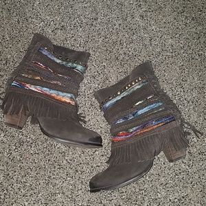 Naughty Monkey brown fringe boots size 8.5